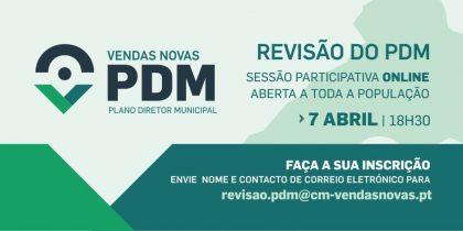 Revisão do PDM – Sessão participativa online aberta à população